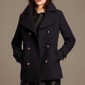 BANANA REPUBLIC NAVY BLUE WOOL PEACOAT